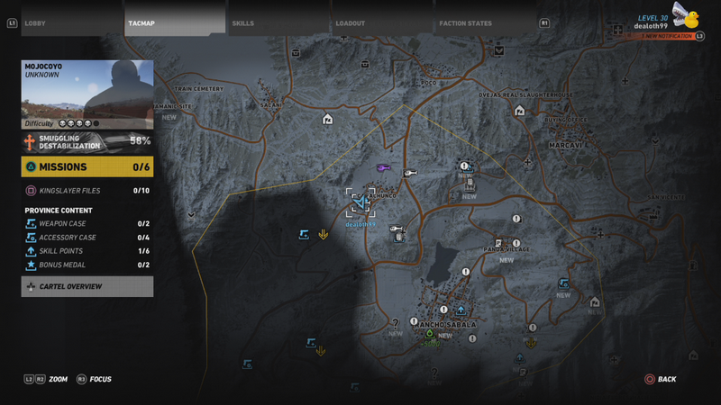 ghost recon wildlands intelligence guides