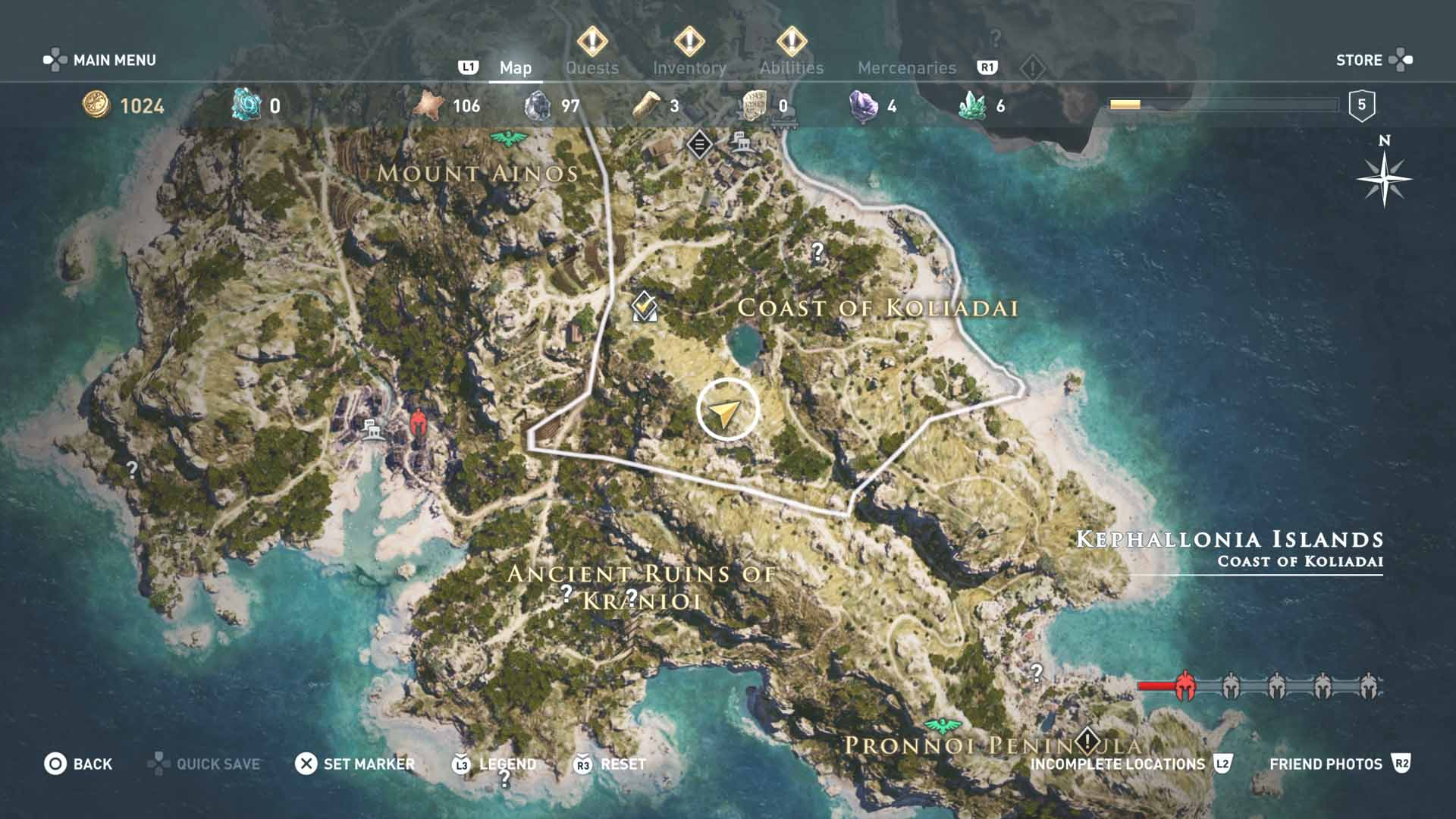 All Loot Treasure Locations Kephallonia Islands All Tombs