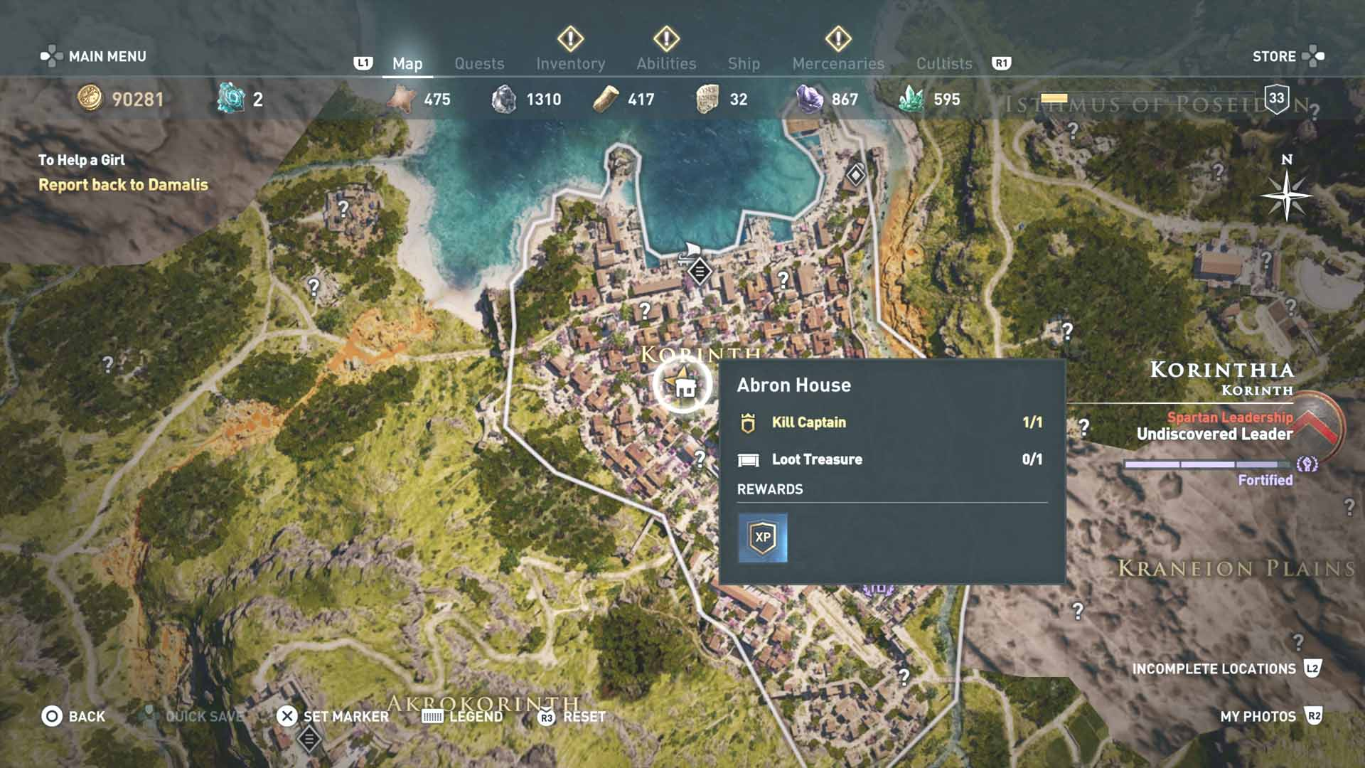 Assassin S Creed Odyssey Karte.All Loot Treasure And Ancient Tablet Locations Korinthia