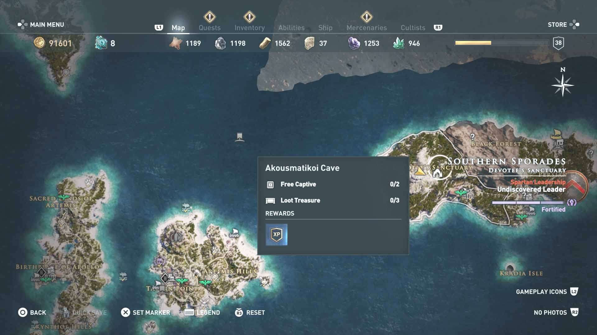 All Loot Treasure And Ancient Tablet Locations Southern Sporades All Tombs Ainigmata And Loot Treasure Locations Assassin S Creed Odyssey