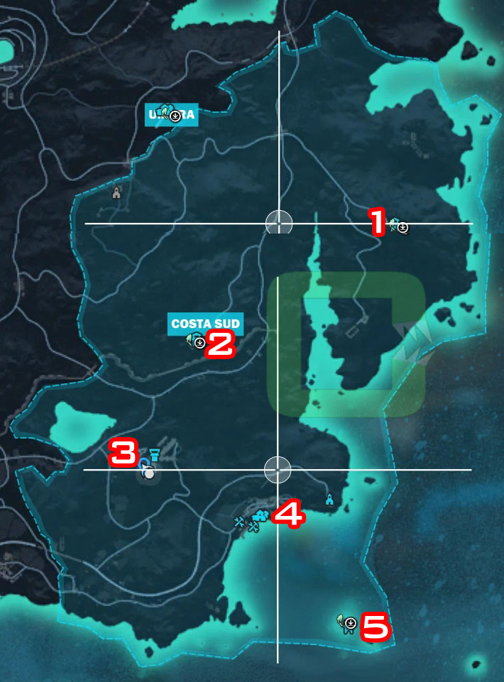Mapa Just Cause 3.Just Cause 3 All Costa Sud Settlements Insula Striate