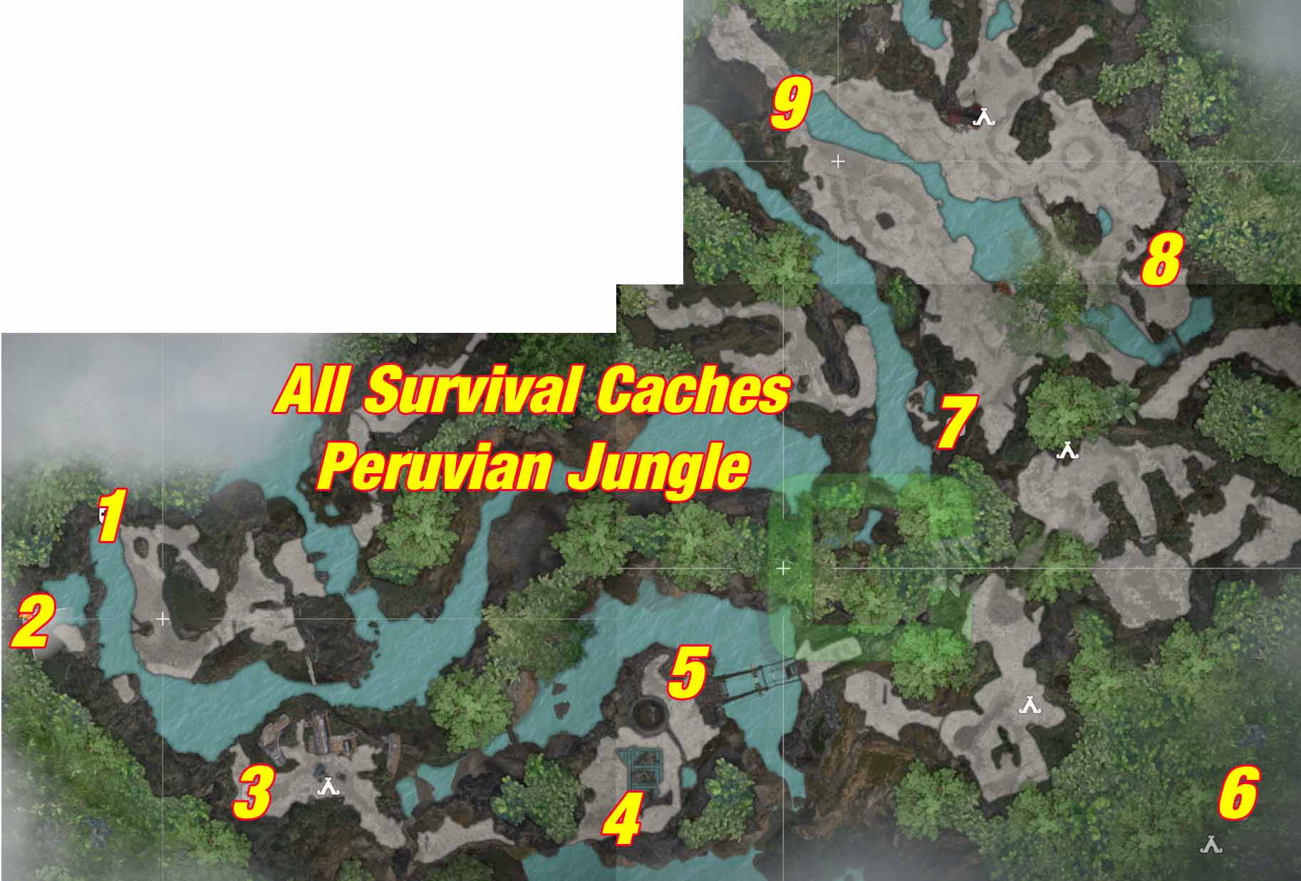 All Survival Caches   Peruvian Jungle   Shadow of the Tomb
