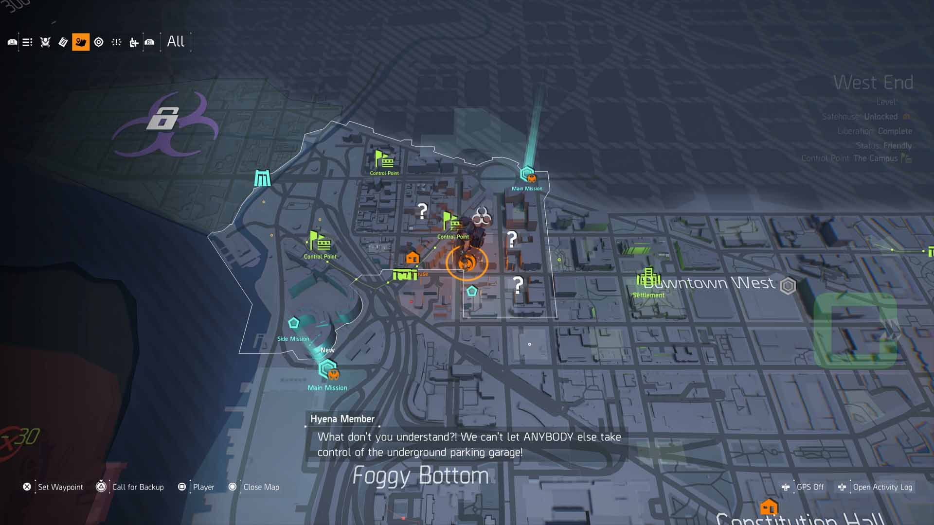 All Dead Drops Comms Locations Guide   The Division 2 - The Division Map Of Call The Dead on